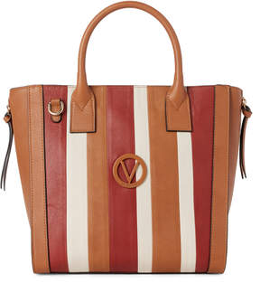 Mario Valentino Valentino By Chivas & Sienna Charmont Stripes Leather Tote