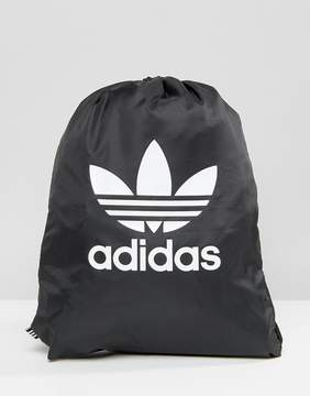Adidas adidas Originals Drawstring Backpack With Trefoil Logo In Black