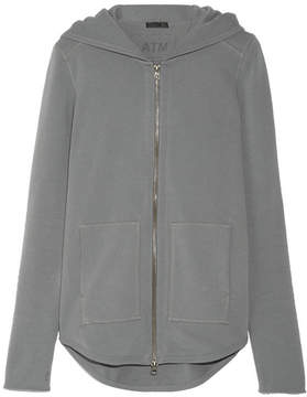 ATM Anthony Thomas Melillo French Cotton-terry Hooded Top - Anthracite
