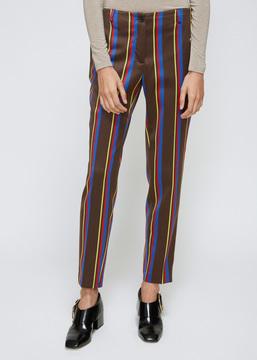 Aalto Brown Stripe Tailored Pants