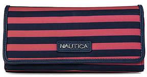 Nautica Coronado Money Manager Clutch - Coral & Navy Stripe