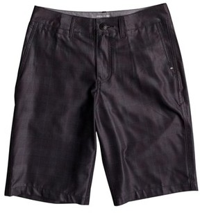 Quiksilver Boy's Union Plaid Amphibian Hybrid Shorts