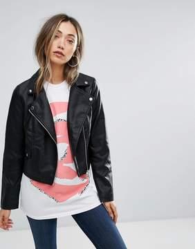 Brave Soul PU Biker Jacket
