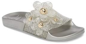 Marc Jacobs Daisy Aqua Slide Sandal