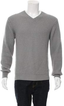 Calvin Klein Collection Woven V-Neck Sweater