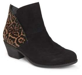 Me Too Zena Suede Booties with Calf Hair
