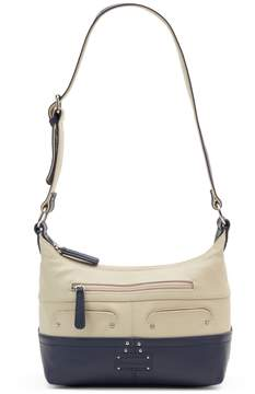 Co Stone & Sophia Double Zip Leather Hobo