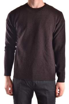 Altea Men's Brown Wool Sweater.