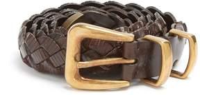 Brunello Cucinelli Braided leather belt