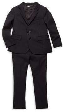 Dolce & Gabbana Solid Suit Jacket and Trousers Set