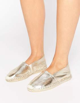 Pieces Haisha Metallic Gold Espadrilles