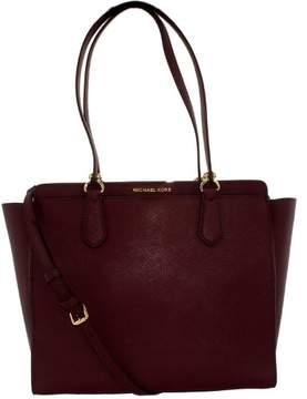Michael Kors Women's Large Dee Dee Convertible Leather Shoulder Bag Tote - Plum - PLUM - STYLE