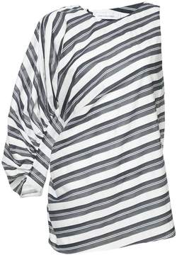 CHRISTOPHER ESBER one sleeve striped blouse