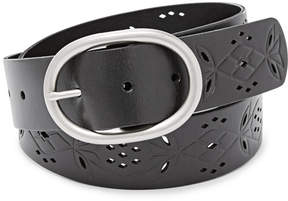 Fossil Floral Perforated Belt