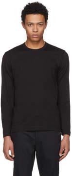 Comme des Garcons Black Long Sleeve Basic T-Shirt