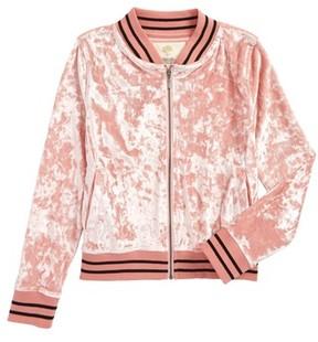 Tucker + Tate Girl's Velour Bomber Jacket
