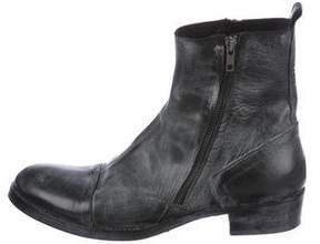 Ann Demeulemeester Distressed Ankle Boots
