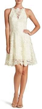 Dress the Population 'Hayden' Crochet Lace Fit & Flare Dress
