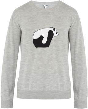Loewe Panda wool-knit sweater