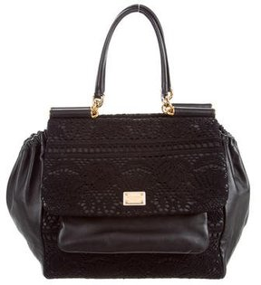 Dolce & Gabbana Lace Miss Sicily Bag - BLACK - STYLE