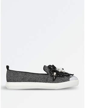 Miss KG Laurie embellished slip-on trainers