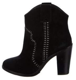 Joie Suede Embellished Ankle Boots