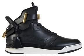 Buscemi Men's Black Leather Hi Top Sneakers.