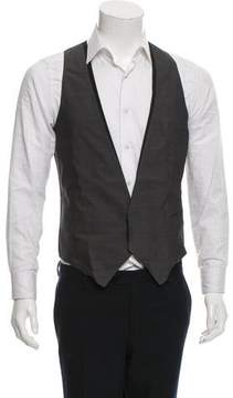 CNC Costume National Silk-Trimmed Suit Vest w/ Tags