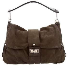 Lanvin Nubuck Shoulder Bag