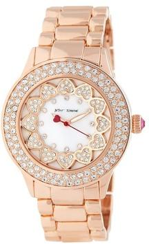 Betsey Johnson Women's Heart Crystal Bracelet Watch
