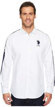 U.S. Polo Assn. Long Sleeve Classic Fit Solid Oxford Shirt Men's Clothing