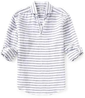 Murano Baird McNutt Linen Roll Sleeve Stripe Popover