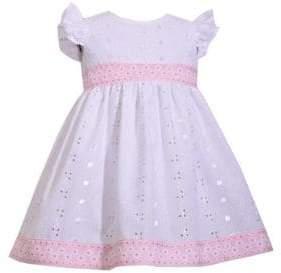 Iris & Ivy Baby Girl's Ruffle-Sleeve Eyelet Dress