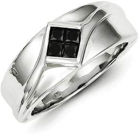 Black Diamond Kevin Jewelers Sterling Silver Men's Ring