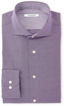 Isaac Mizrahi Grape Slim Fit Dress Shirt