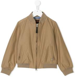 Woolrich Kids zipped bomber jacket