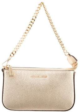 Michael Kors Metallic Leather Handle Bag
