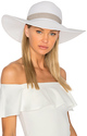 L*SPACE Sunday Funday Beach Hat in White.