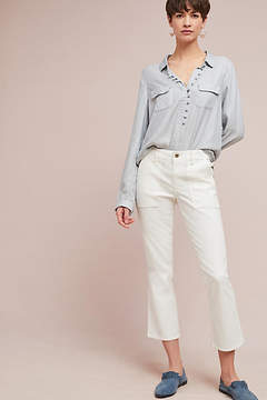 Anthropologie Utility Cropped Bootcut Pants