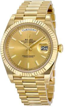 Rolex Day-Date 40 Champagne Dial 18K Yellow Gold President Automatic Men's Watch