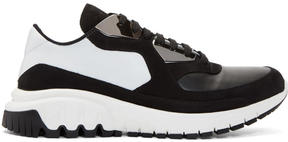 Neil Barrett Black and White Metal Urban Sneakers