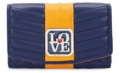 Love Moschino Foldover Quilted Wallet