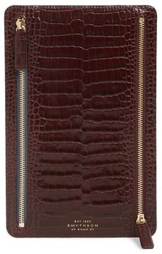 Smythson Women's Mara Leather Zip Currency Case - Burgundy