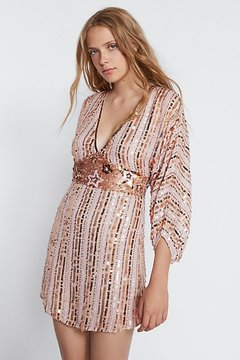 Bali Celeste Sequin Mini Dress by at Free People