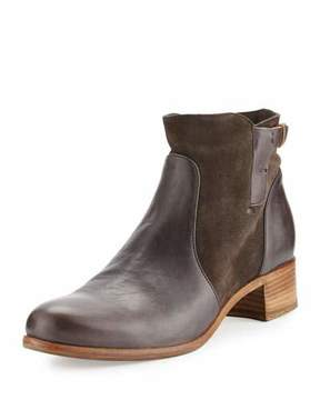 Alberto Fermani Viola Leather & Suede Bootie, Forged Iron
