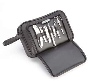 Royce Leather Toiletry and Grooming Kit
