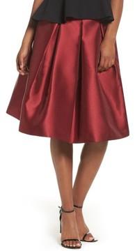 Eliza J Women's Pleated Mikado Skirt