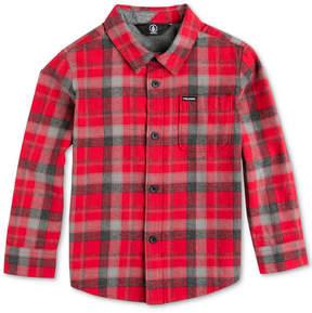 Volcom Caden Plaid Shirt, Big Boys (8-20)