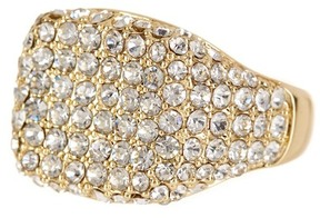 Ariella Collection Pave Pinky Ring - Size 4