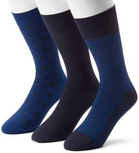 Marc Anthony Men's 3-pack Patterned & Solid Microfiber Dress Socks